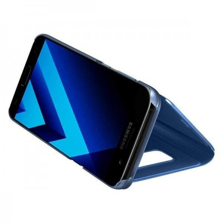 Husa Samsung Galaxy S7 Edge Flip Albastra Book Cover Clear View