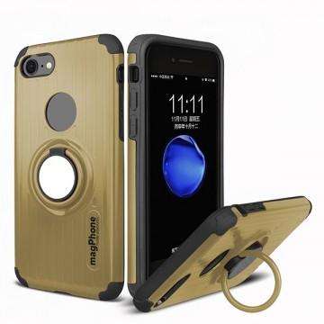 Husa iPhone 7 sau 8 magPhone Antisoc Gold Cu Inel Rotativ
