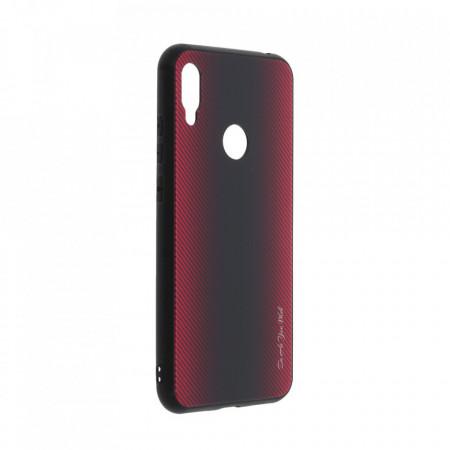 Husa pentru Huawei Y6 (2019) - Husa Pro Shield Glass Rosu cu Efect Gradient