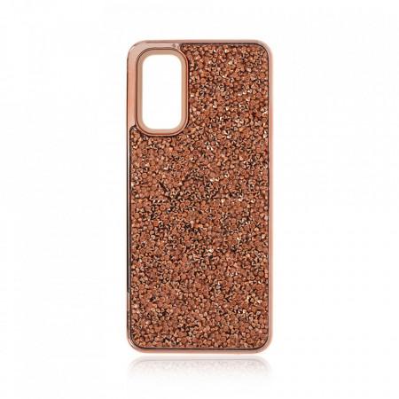 Husa pentru Samsung Galaxy S20 - Husa Luxury Glitter Diamond Rose-Gold