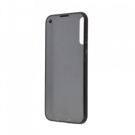 Husa Samsung Galaxy A10 - 360 Fully cu Spate din Policarbonat si Folie din Silicon - Black