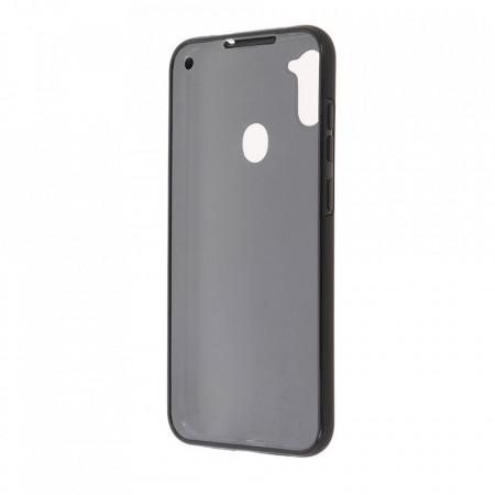 Husa Samsung Galaxy A11 - 360 Fully cu Spate din Policarbonat si Folie din Silicon - Black