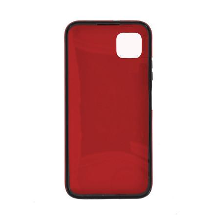 Husa Samsung Galaxy A41 - 360 Fully cu Spate din Policarbonat si Folie din Silicon - Red