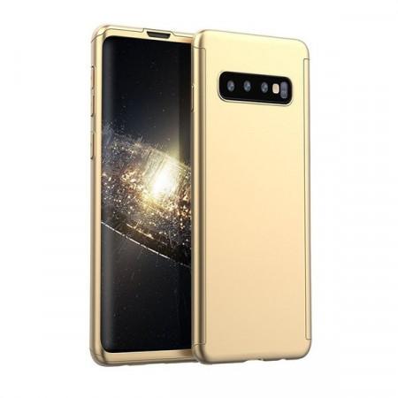Husa Samsung Galaxy S10e Gold 360° Matte Premium Ultra Slim cu Folie de Sticla