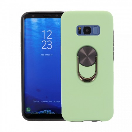 Husa Samsung Galaxy S8 Verde Din Policarbonat Premium cu Inel Rotativ