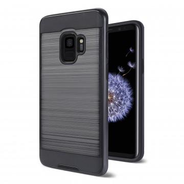 Husa Samsung Galaxy S9 Antisoc Neagra Dublu Strat