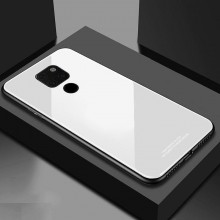 Husa Huawei Mate 20 Glass Case Alba