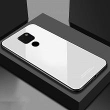 Husa Huawei Mate 20 Glass Case Alba