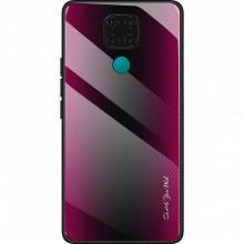 Husa Huawei MATE 20 - Husa Pro Shield Glass Rosu cu Efect Gradient