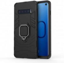 Husa Samsung Galaxy S10e Neagra Military cu Inel