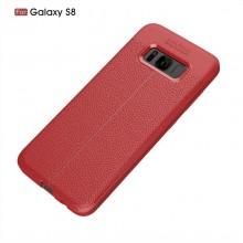 Husa Samsung Galaxy S8 Rosie din TPU cu Design de Tip Piele