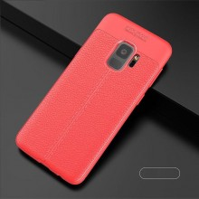 Husa Samsung Galaxy S9 Rosie din TPU cu Design de Tip Piele
