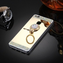 Husa Huawei P9 LITE Mirror Luxury Gold Cu Inel