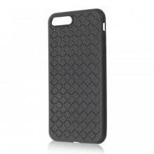 Husa iPhone 7-8 PLUS Neagra Flexibila din Silicon