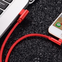 Cablu De Date Si Incarcare Pentru iPhone Rosu 1m