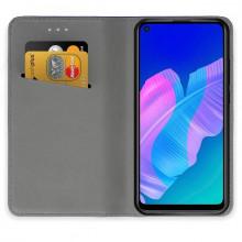 Husa Huawei P40 LITE E | Y7p - Book Textile cu Magnet Smart - Negru