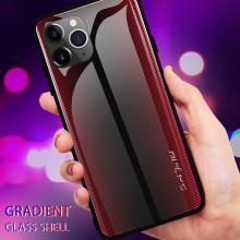 Husa iPhone 11 PRO MAX - Husa Pro Shield Glass Rosu cu Efect Gradient