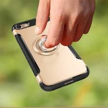 Husa iPhone 7 | 8 | SE (2020) Gold Carbon Cu Inel Rotativ