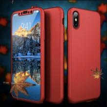 Husa iPhone XS Rosie 360° Matte Premium Ultra Slim Cu Folie De Sticla