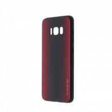 Husa pentru Samsung Galaxy S8 - Husa Pro Shield Glass Rosu cu Efect Gradient