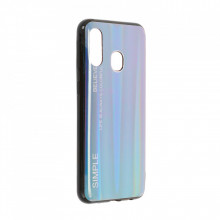 Husa Samsung Galaxy A40 - Husa Gradient Aurora Colorful - Dark Blue