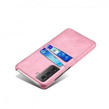 Husa Samsung Galaxy S21 FE, Dual Card Slots, roz, S21FE-001
