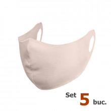 Set 5 buc Masca protectie pentru fata Fashion, Culoare Crem