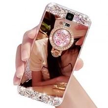 Husa Samsung Galaxy S5 Mirror Luxury Gold Cu Inel
