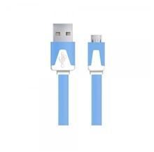 Android Micro USB - cablu date incarcator 1m Plat Albastru