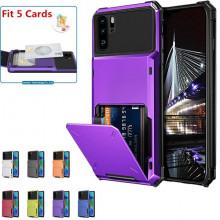 Husa Huawei P40 - Book Type Card Holder, mov, HWP40-006