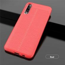 Husa Samsung Galaxy A70 | A70s Rosie din TPU cu Design de Tip Piele