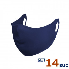 Set 14 buc Masca protectie pentru fata Fashion, Culoare Bleumarin