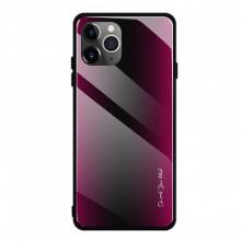 Husa iPhone 11 - Husa Pro Shield Glass Rosu cu Efect Gradient