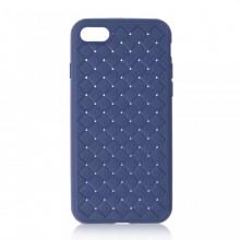 Husa iPhone 7 sau 8 Albastra Flexibila din Silicon