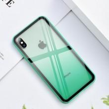Husa iPhone X sau XS Verde Gradient Antisoc