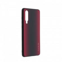 Husa pentru Huawei P30 - Husa Pro Shield Glass Rosu cu Efect Gradient
