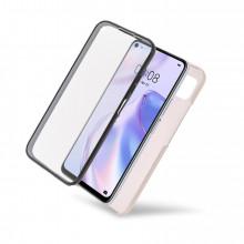 Husa Samsung Galaxy A41 - 360 Fully cu Spate din Policarbonat si Folie din Silicon - Crem