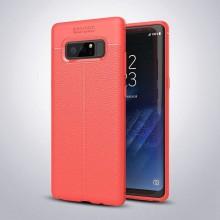 Husa Samsung Galaxy Note 8 Rosie din TPU cu Design de Tip Piele
