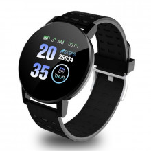 Smartwatch 119 Plus, iOS /Android, Bluetooth, Fitness Tracker, Negru
