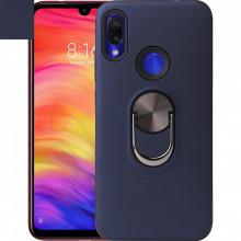 Husa Huawei Y6 | Y6 PRO (2019) Bleumarin Din Policarbonat Premium cu Inel Rotativ
