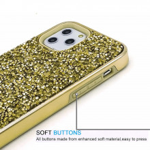 Husa iPhone 11 PRO MAX - Husa Luxury Glitter Diamond Gold