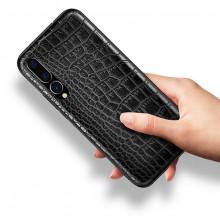 Husa pentru Huawei P30 Lite, cu protectie ridicata, TPU + Crocodil Design, rezistenta la socuri, negru