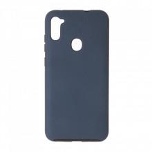 Husa Samsung Galaxy A11 - 360 Fully cu Spate din Policarbonat si Folie din Silicon - Blue
