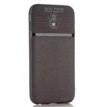 Husa Samsung Galaxy J3 (2017) De Protectie Gri TPU Texture Mix