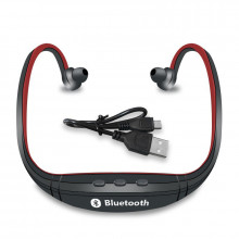 Casti Handsfree Bluetooth Cu Margini Rosii - Wireless