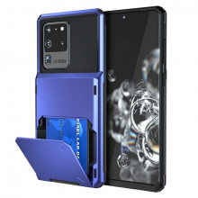 Husa Huawei P20 - Book Type Card Holder, albastru, HWP20-007