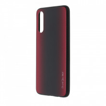 Husa pentru Samsung Galaxy A70 | A70s - Husa Pro Shield Glass Rosu cu Efect Gradient