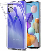 Husa Samsung Galaxy A21s - Spate din Silicon - Transparent