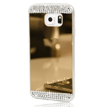 Husa Samsung Galaxy S5 Silicon Luxury Mirror Gold