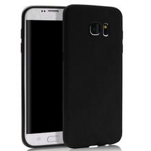 Husa Samsung Galaxy S6 EDGE Black Soft Rubber